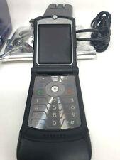 Motorola V3 Phone Razr Att Cingular Alltel Flip Style Sms Email Gprs Light Black