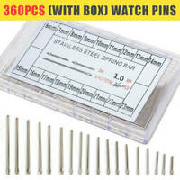 360 Stücke 1.0mm Edelstahl Uhrenarmband-Splinte Reparaturstifte Pins 6-23mm CE