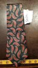 Top City Black Red Leaf Silk Designer Mens Tie Necktie Free Shipping