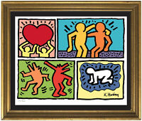 "Keith Haring ""Pop Shop Quad"" Signed & Hand-Numbered Ltd Ed Print (unframed)"