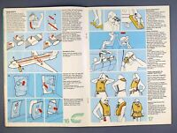 COURT LINE BAC1-11 AIRLINE SAFETY CARD CLARKSONS CABIN & CREW PICS 1970'S