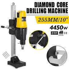 Vevor 2600w 255mm Diamond Core Wet Drill Machine Vertical Stand Press Drilling