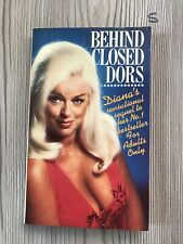 BEHIND CLOSED DORS by DIANA DORS 1st Ed 1979