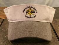 Norfolk Southern Railroad Safety Ranger Stallion Stone Gray Canvas Visor Hat Cap