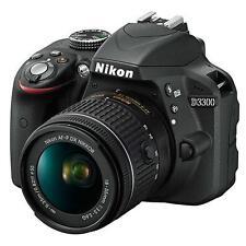Nikon D3300 Digital SLR Camera with 18-55mm AF-P lens kit - Black (UK Stock)
