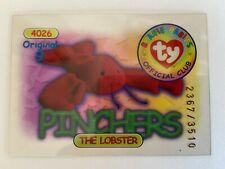 Rare Series 1 Clear - Original 9 Trading Card - Pinchers - Blue