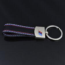 HOT Car styling Leather Belt Chrome Keyring Keychain Key Chain For BMW M Sport s