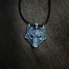 Norse Viking Pendant Norse Wolf Head Necklace