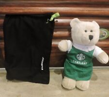 COLLECTABLE NEW STARBUCKS THAILAND GREEN APRON BEARISTA BEAR WITH TAGS AND BAG