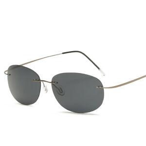 With case Polarized Titanium Silhouette sunglasses Polaroid Brand Designer NEW