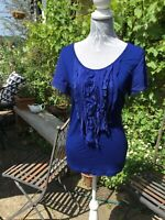 Whistles Ladies  Royal Blue top -  ELEGANT AND UNUSUAL SIZE 12 Beautiful Used GC