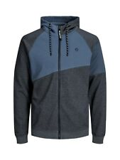 Mens New Jack & Jones Full Zip Hoody Sweatshirt Hooded Top Light Grey Blue Black