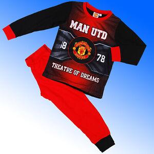 Manchester United Pyjamas MUFC Age 2 3 4 5 6 7 8 9 10 11 12 Years