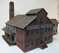 FACTORY BUILDING HO Scale Model Railroad Structure Unptd Wood Laser Kit RSL2057