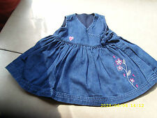Denim Embroidered Casual Dresses (0-24 Months) for Girls
