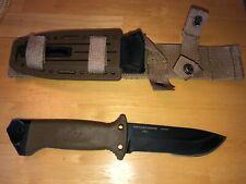 "GERBER USA MADE 10.5"" TACTICAL FIXED BLADE 0871013D KNIFE W/ HEAVY DUTY SHEATH"