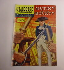 Classics Illustrated #100 Mutiny on the Bounty, 1st Print, Vg+, White Pages