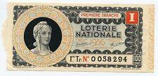 BILLET DE LOTERIE NATIONALE 1936