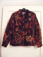 BNWT Indigo Moon brown velour embroidered jacket XS chest 40""