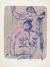 "ERNI HANS ""Sportler - Paar"" 1961 handsignierte Originallithografie! TOP"
