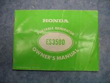 ES3500 PORTABLE GENERATOR OWNERS MANUAL ES 3500 PRINTED 1977 77