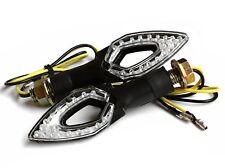 Universal 12V LED klar Signale Turn Blinker für Motorräder - Bernstein Lichter