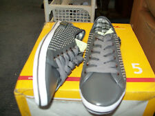 Mens Size 8 Grey Perforated with Pin Punch Lace Up Shoe