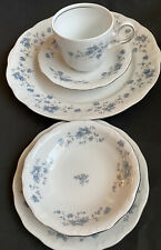 Johann Haviland China 5 Piece Place Setting Blue Garland Brand New