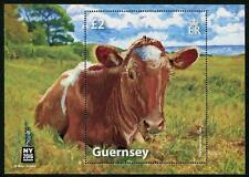 COW!  Souvenir sheet mnh for the NYC 2016 Stamp Exhibition Guernsey
