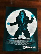 1993 Vintage 8X11 Print Ad For DiMarzio Guitars Steve Vai New Evolution Is Here