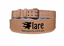 Flaresports Weight Lifting Training Back Support bodybuilding leather Belt 4''