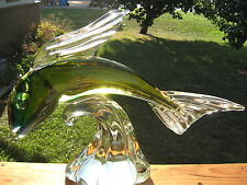 Murano Glass FISH SCULPTURE Signed L.Rosin OOAK MINT Condition Gorgeous