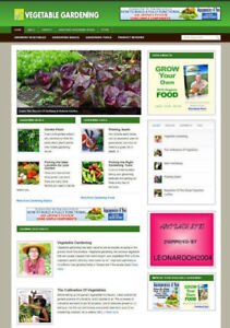 VEGETABLE GARDENING ARTICLE WEBSITE AND AFFILIATE STORE + DOMAIN & HOSTING