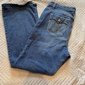 Ladies LEVI'S 580 BOOTCUT Jeans W33 L30 Blue Women's Light Stonewash Denim