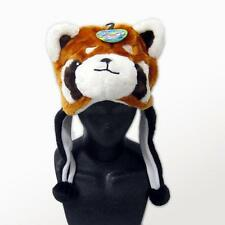 Soft Plush Cuddly Animal Over Ear Flap Beanie Cap Winter Hat (Red Panda)