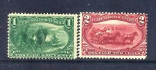 US Stamps - #285-286 - MH DG - 1&2 cent Trans-Mississippi Expo Issues - CV $52