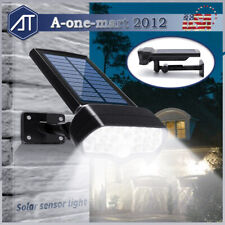 Adjustable Solar Power LED Outdoor Light PIR Motion Sensor Spot Garden Wall Lamp