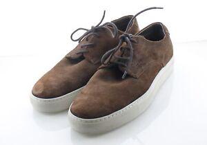 27-61 $245 Men's Sz 8.5 D Allen Edmonds Howard Suede Low Top Sneakers - Brown