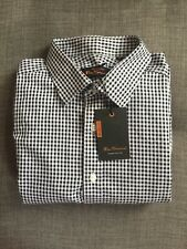 "BNWT Ben Sherman Slim Fit Black & White Check Shirt L/S M 16"" Mod Ska Ivy Work"