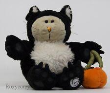 Starbucks 41st Bearista 2005 Halloween Bear Black Cat Costume w/Pumpkin Bag NWT