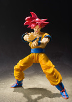 15cm S.H.Figuarts Dragon Ball Super Saiyan God Son Goku Red Hair figure Toy Gift