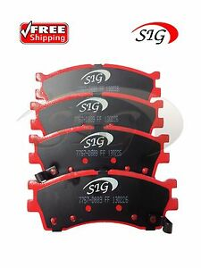Front Left & Right Semi-Metallic Disc Brake Pads for KIA Sephia 2000-2001
