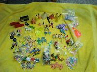 VINTAGE WILTON CAKE TOPPERS ASSORTMENT, WEDDING, SANTA, 84 FLEER, DANCERS, GO-GO
