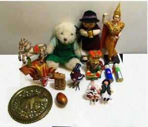 BIG LOT Vintage Dolls Mask Folk Collection Native American Asian Russian