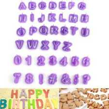 40x Alphabet Letter Cookie Cutters Mold Number Fondant Cake Biscuit Baking Mold