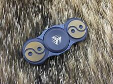 "WE KNIFE Fidget Spinner Yin Yang Blue Titanium Hand Top Ceramic 2"" S01A"
