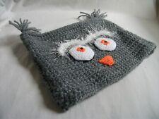Hand-crocheted Childrens 'Owl' Hat –  Ref 1938
