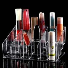 Clear 24 Makeup Lipstick Cosmetic Storage Display Stand Rack Holder Organizer ID