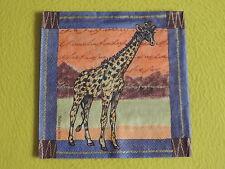 5 Napkins Giraffe Serengeti Africa Animals Napkins Art Motif Napkin