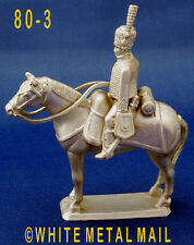 Military Lead Casting PA80-3 1:32 Napoleonic French Hussar Mounted Trooper